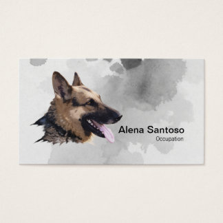 German Shepherd Painting Business Card
