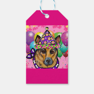 German Shepherd Party Dog Gift Tags