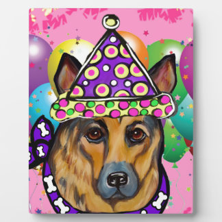 German Shepherd Party Dog Plaque