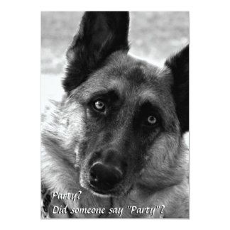 German Shepherd Party Invitations