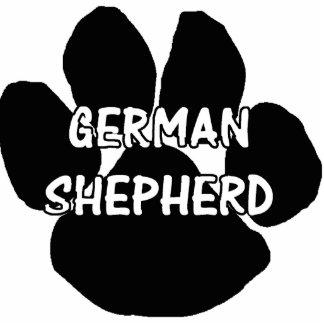 german shepherd paw name photo sculpture key ring
