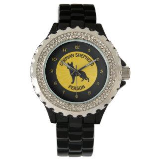 German Shepherd Person Wrist Watch