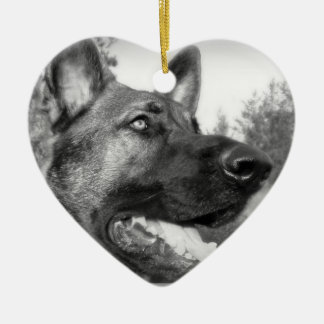 German Shepherd Photo Ceramic Ornament