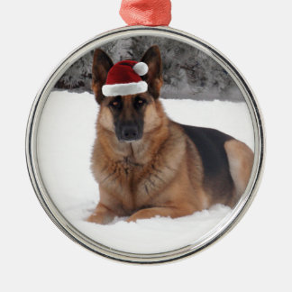 German Shepherd Photo Metal Ornament