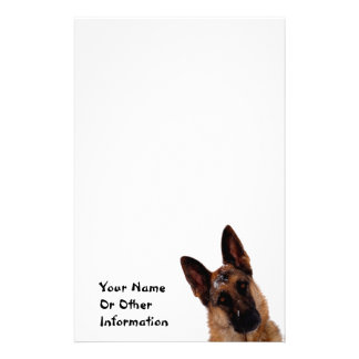 German Shepherd Photo Personalized Stationary Stationery