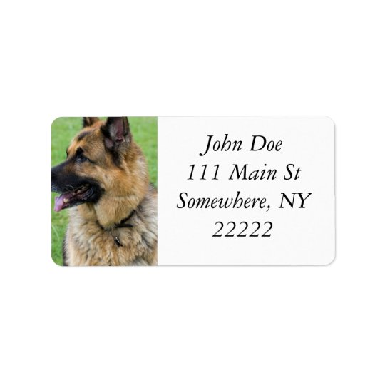 German Shepherd Profile Label