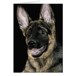 "German Shepherd Pup Card - ""Rommel"""