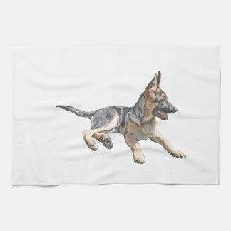 German Shepherd pup Tea Towel
