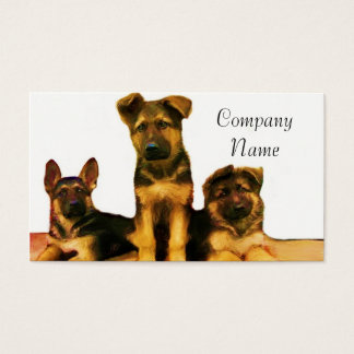 German Shepherd puppies business cards