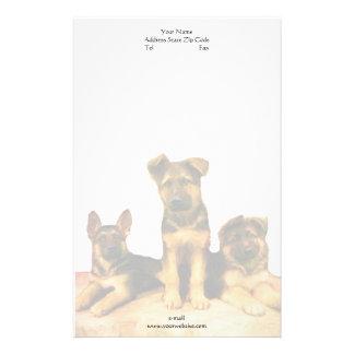 German Shepherd puppies letterhead Customized Stationery
