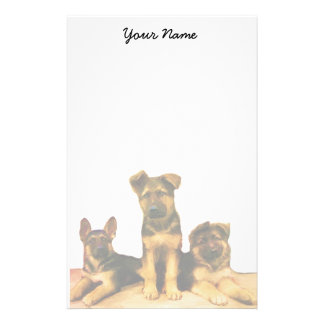 German Shepherd puppies stationary Stationery Design