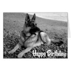 German Shepherd  Puppy Dog  Happy Birthday Card