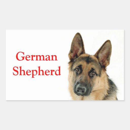 German Shepherd Puppy Dog Stickers / Labels