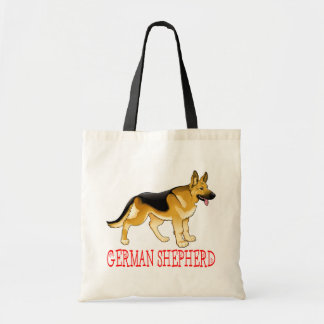 German Shepherd Puppy Dog Tote Bag