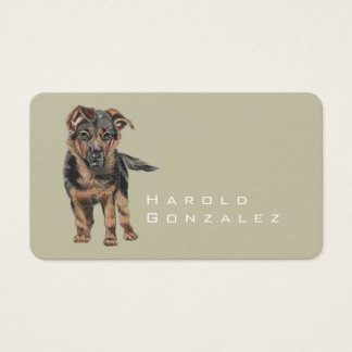 German Shepherd Puppy Drawing Business Card