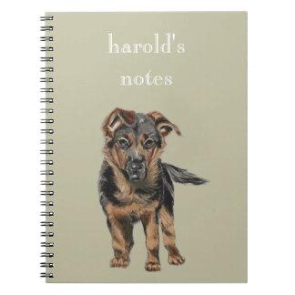 German Shepherd Puppy Drawing Notebook