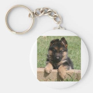 German Shepherd Puppy Key Ring