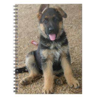 German Shepherd Puppy Notebook
