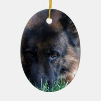 German Shepherd Randy vom Leithawald Ceramic Ornament