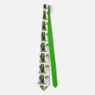 German Shepherd Saint Patrick's Day Tie