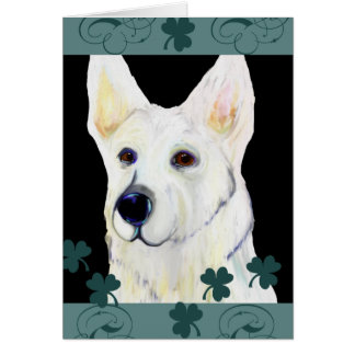 GERMAN SHEPHERD SAINT PATTY CARD