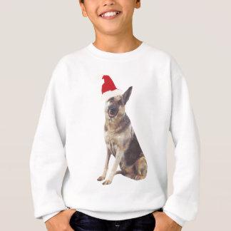 German Shepherd Santa Hat Sweatshirt