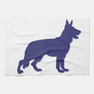 German Shepherd Silhouette Tea Towel