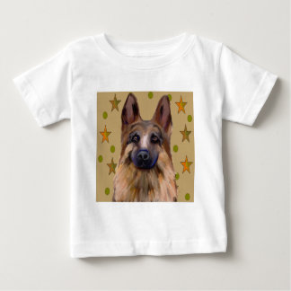 German Shepherd Soldier Art Baby T-Shirt