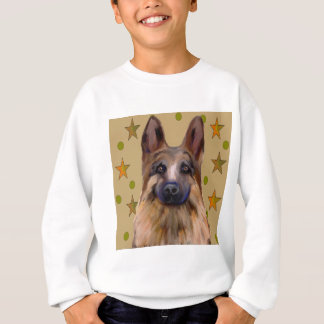 German Shepherd Soldier Art Sweatshirt