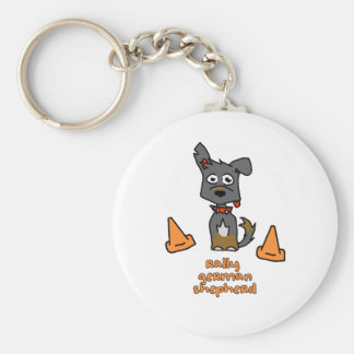 German Shepherd Sports Key Ring