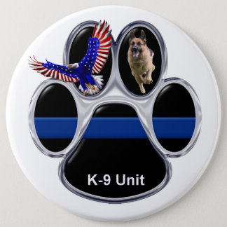 German Shepherd Thin Blue Line Button