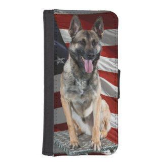 German shepherd usa - patriotic dog - usa flag iPhone SE/5/5s wallet case