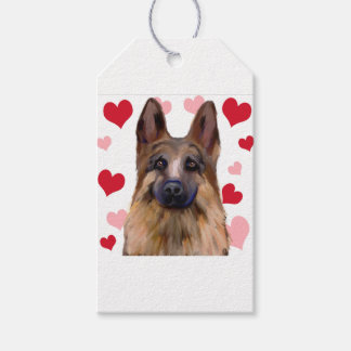 German Shepherd Valentine Gift Tags