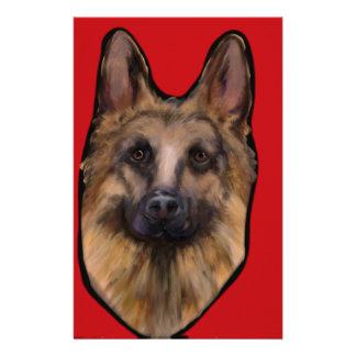 German Shepherd Valentine Stationery
