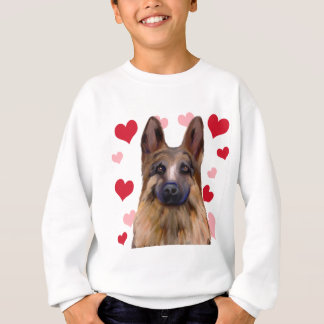German Shepherd Valentine Sweatshirt