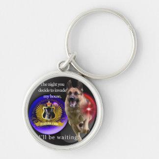 German Shepherd Warning Key Ring