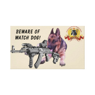 German Shepherd Watch Dog Canvas Print