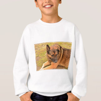 German Shepherd with One Floppy Ear Sweatshirt