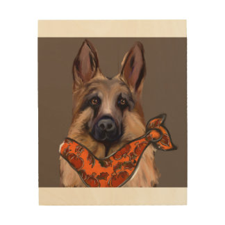 GERMAN SHEPHERD WOOD WALL ART