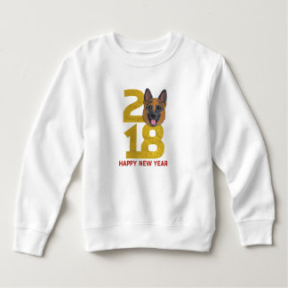 German shepherd Year of the Dog 2018 New Year Sweatshirt