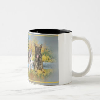 German Shepherds An Autumn Day Coffee Mugs