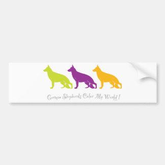 German Shepherds Color My World ! Car Bumper Sticker