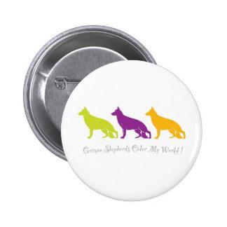 German Shepherds Color My World Pin