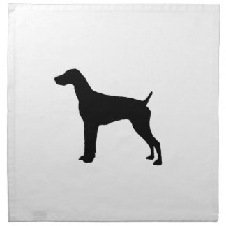 German Short-Haired Pointer Silhouette Love Dogs Napkins