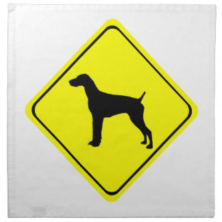 German Short-Haired Pointer Warning Sign Love Dogs Napkins