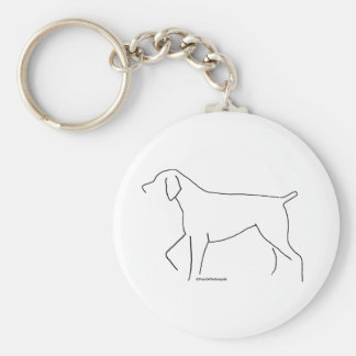 German Shorthair sketch Key Ring
