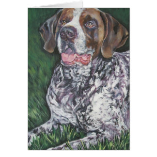 German Shorthaired Pointer blank card gsp