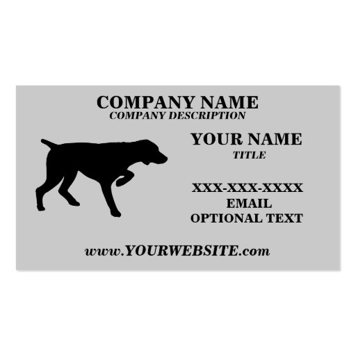 GERMAN SHORTHAIRED POINTER - Business Card Templat