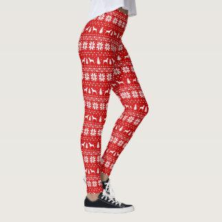German Shorthaired Pointer Christmas Pattern Leggings