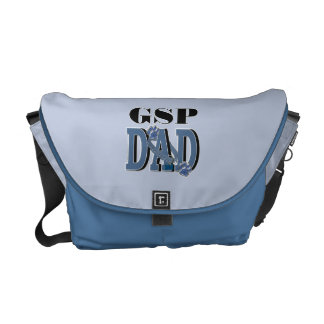 German Shorthaired Pointer DAD Messenger Bags